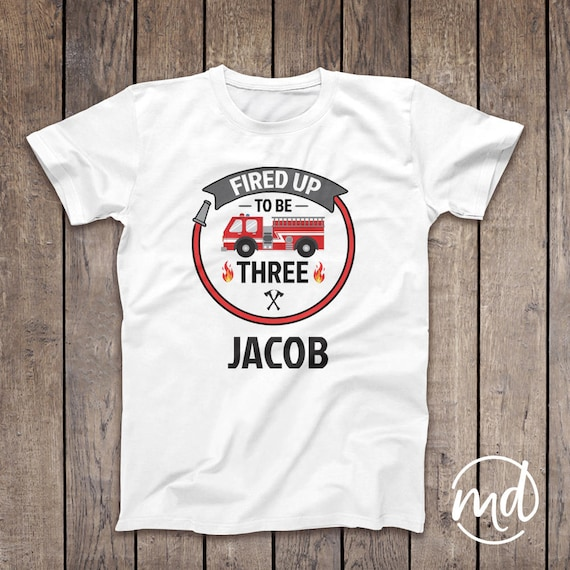 Firefighter Birthday Matching Family Shirts, Personalized Firefighter Shirt, Matching Coordinating Firefighter Tshirts, Firefighter Birthday