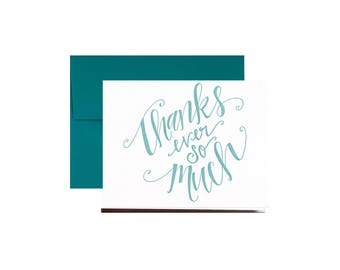 Letterpress Thanks Ever So Much!, Thank You Card