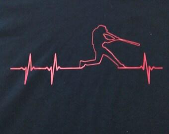 Baseball ekg t-shirt