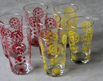 Retro Glass Tumblers