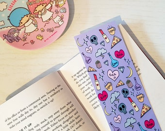 Cute Sassy Bookmark | Stationery | Bookmark | Book lover | Gift for her | Reading | Illustration