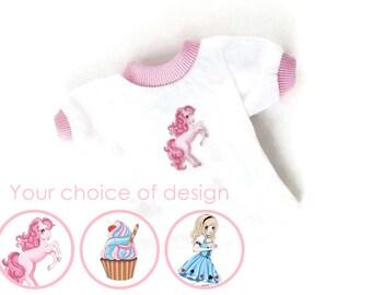 Fairy Kei BJD T-shirt - Kawaii Bjd Clothes - Pastel Bjd Top - Cute Msd Clothes - Girl Doll Clothes - Minifee Clothing - Slim Msd Outfit