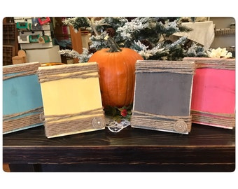 Bulk Rate - 5x7 Picture Frame - rustic frame - Minimum purchase of 10 - centerpiece table number - wedding decor - event signage