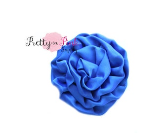 Royal Blue Isabella Collection Ruffled Rosettes- Choose Quantity- Rolled Rosettes- Rolled Rosettes- Rosettes- Flower- Supply- DIY Headband