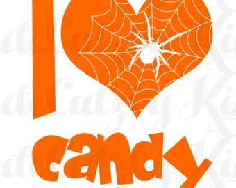 I love Candy halloween svg