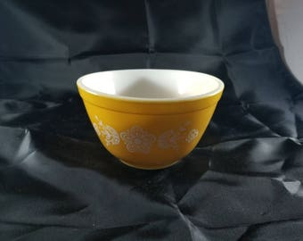 Vintage Pyrex Small Mixing Bowl Butterfly Gold Pyrex Bowl Vintage Pyrex #401 1 1/2 Pt 750ml