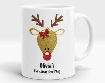 Personalised Christmas Eve Mug, personalised Christmas mug, Christmas Eve mug, Christmas eve, Christmas mug, rudolph gift, reindeer gift