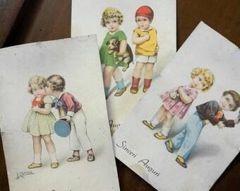 Three years ' 40 vintage greeting cards