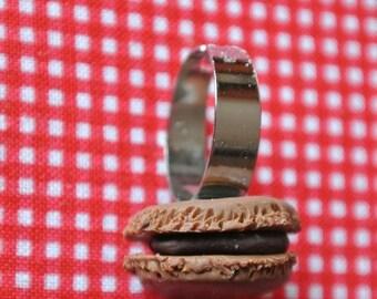 caramel macaron ring
