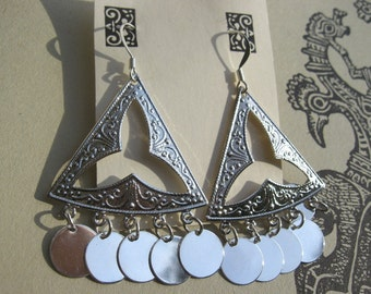 CELTiC GYPSY DANCER EaRRiNGs in Silver