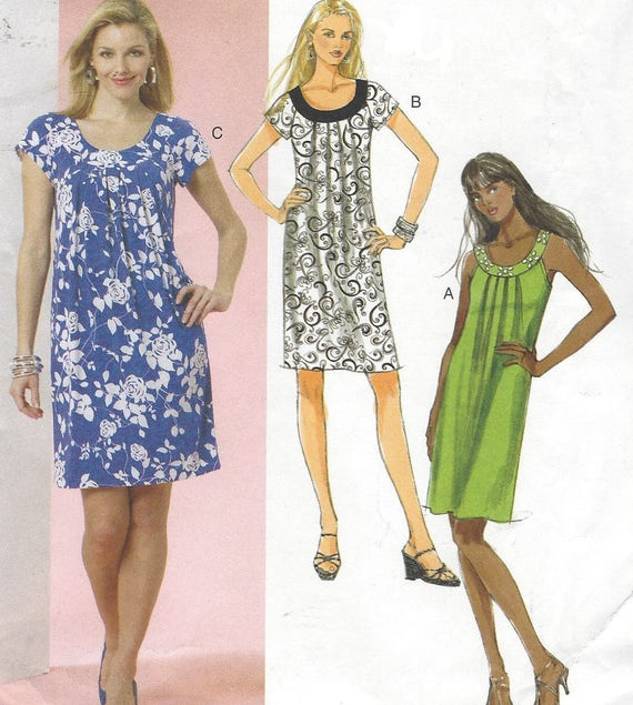 OOP Butterick Sewing Pattern B5488 Womens Summer Shift Dress