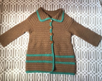 Girls crochet coat