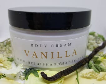 Vanilla Body Cream - Vanilla Moisturizing Cream - Vanilla Hand and Body Cream - Vanilla Lotion