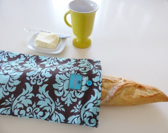Bread bag, baguette tote, french bakery, long bread bag,  bread storage, fabric bread bag, mylmelo, baguette bag, storag bag, eco friendly