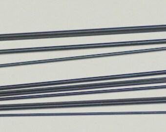 11 Assorted Tempered Blue Steel Wire Pivots clock repair pivot pinions staffs