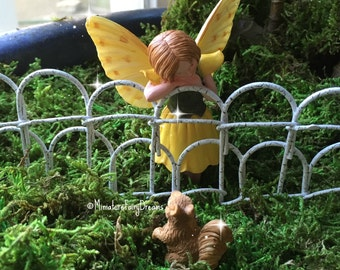 Fairy Garden, Miniature Garden, Miniature Fence, Fairy Garden Wire Fence,  Tiny Fence