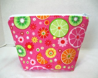Make Up Bag Fruit Slices Cosmetic Pouch