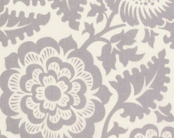 Blockprint Blossom Smoke Grey Gray - Modernist - Joel Dewberry - PWJD137.SMOKE - Quilters Cotton