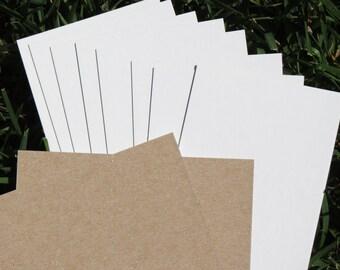 """20 Pack Hair Tie Display Card cards White Brown Cardboard 4.75"""" x 3.25"""""""