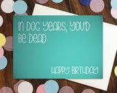 Birthday card - 'In d...