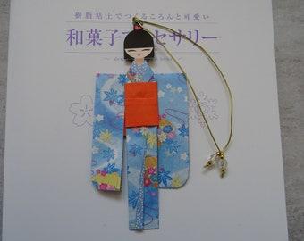 BMA00006 Handmade kawaii cute Japanese Origami Geisha bookmark Shiori Ningyo Washi Chiyogami Yuzen Kokeshi paper craft back to school