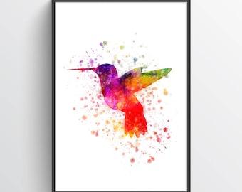 Hummingbird Poster,Hummingbird Print, Hummingbird Art, Hummingbird Wall Decor,  Home Decor, Gift Idea
