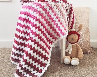 Crochet Pink Ombré Baby Blanket