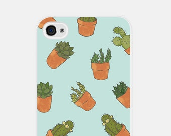 iPhone 5 Case - iPhone 6 Case Phone Case - Cactus iPhone 6 Case - Blue Cactus iPhone 5 Case - Cactus iPhone 5c Case - Cco