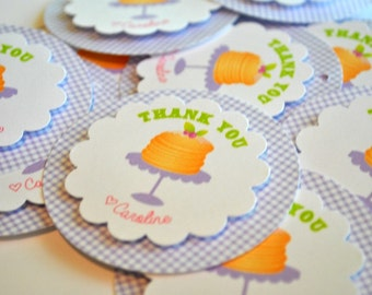 Pancakes and Pajama's Party Thank you Tags