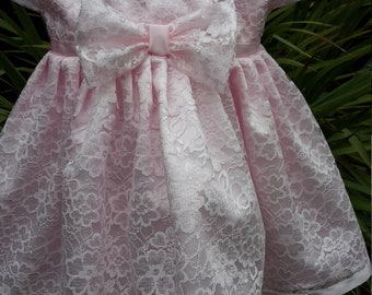 Belle of the Ball Pink Lace Dress