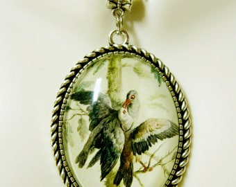 Loving doves pendant with chain - BAP09-018