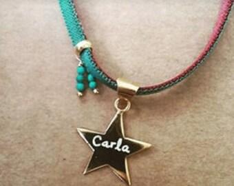 Collar STELLA/Estrella /dorado/nombre