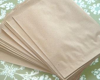 BULK SALE Kraft Brown Paper Merchandise Bags 100pcs // Packaging Supply, Gift Wrap, Weddings, Craft Supply
