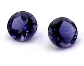 4mm Iolite Faceted Round Calibrated Eye Clean AA Grade EACH