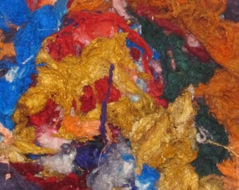 Silk Neps  1 ounce Handpainted, Assorted