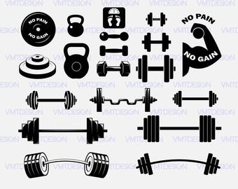 Barbell svg - Dumbell svg - Barbell, Dumbell vector-Barbell, Dumbell Silhouette digital clipart files download svg, png, eps, jpg