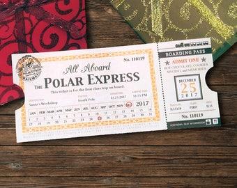 Polar Express 2018 Train Ticket (INSTANT Digital Download)