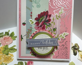 Happy birthday floral themed cards (pick)
