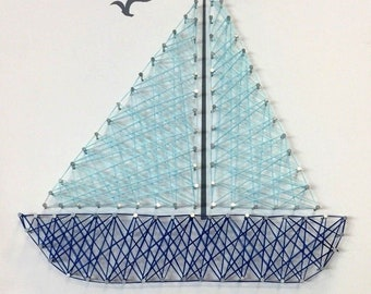 Nautical Coastal Sail Away With Me 3D Wall Art Picture
