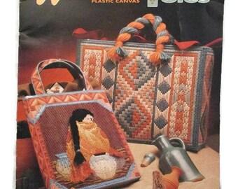 Annies Attic 87K26 Plastic Canvas Southwest Totes Leaflet