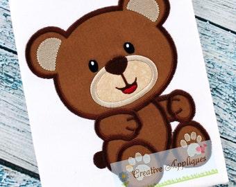 Teddy Bear Machine Embroidery Applique Design 4 SIZES, bear applique, teddy bear applique, bear embroidery, teddy bear embroidery