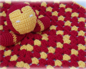 Iron Man Comforter/Lovey Crochet Pattern