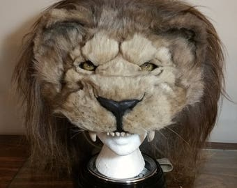 Classic oriental  lion headdress animal friendly and cruelty free