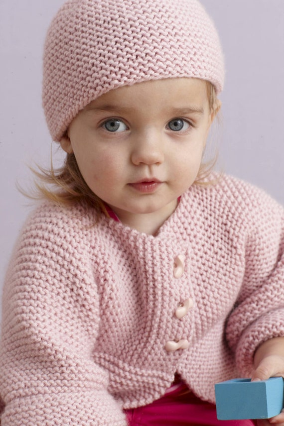 Cardigan Knitting Pattern Baby Girl Pink Cardigan And Hat