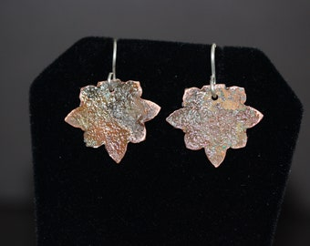 Copper Earrings with Natural Patina (061318-021)