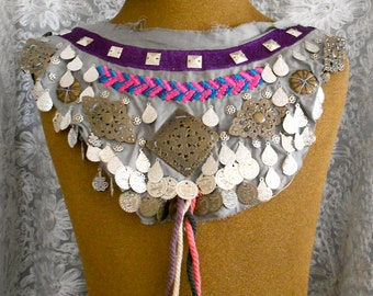 Stitched Coin Beaded Appliques