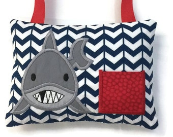 Tooth Fairy Pillow - Child's Tooth Fairy - Tooth Pillow - Shark Tooth Fairy Pillow - Lost Tooth Pillow