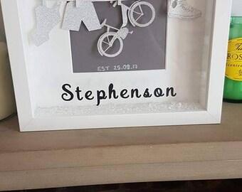 Wedding triathlon frame