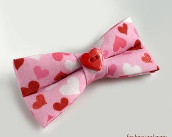 Valentine's Day, hearts bow tie for dogs and cats