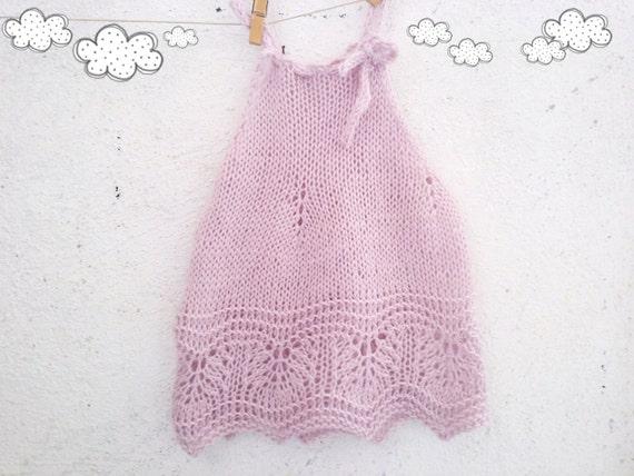 125 PDF Knit Pattern for Baby Dress Knitting pattern Baby girl